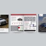 Mitsubishi Fleet iQ brochure mockup.