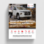 Mitsubishi Fleet iQ promotional flyer.