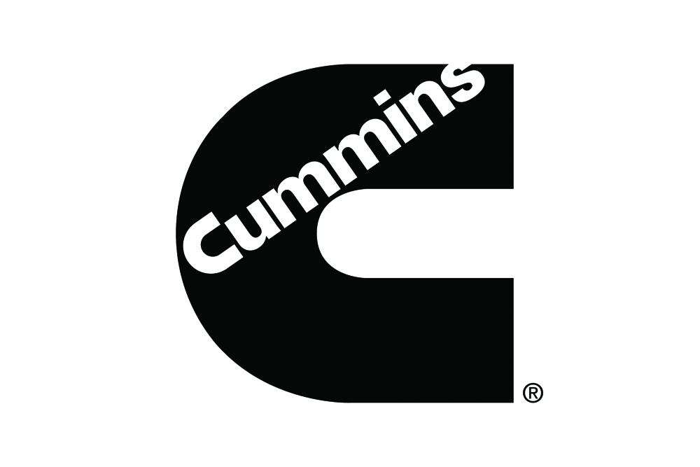 Black Cummins logo.