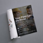 Magazine ad for fleet management.
