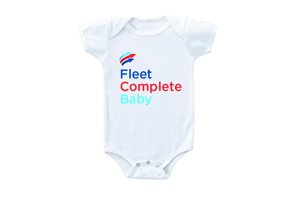 Fleet Complete baby onesie design.