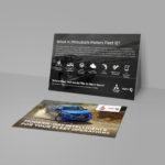 Mitsubishi Fleet iQ promotional postcard back.